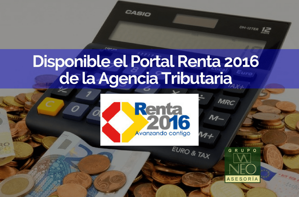 Disponible el Portal Renta 2016