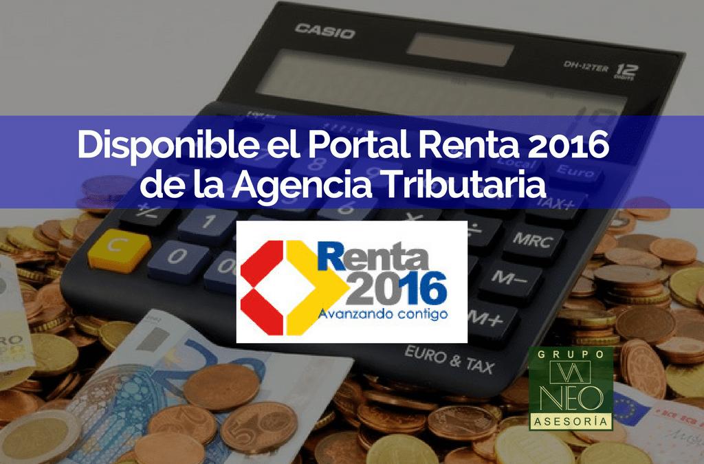 Disponible el Portal Renta 2016