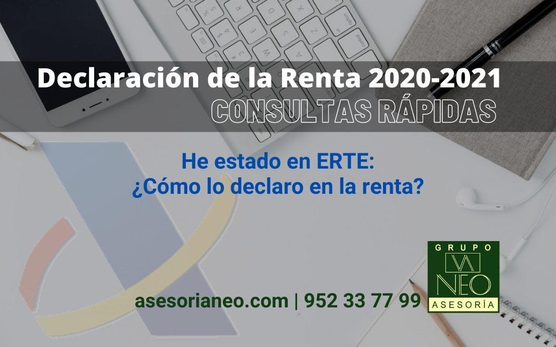 He estado en ERTE: ¿Cómo lo declaro en la renta 2020-2021?